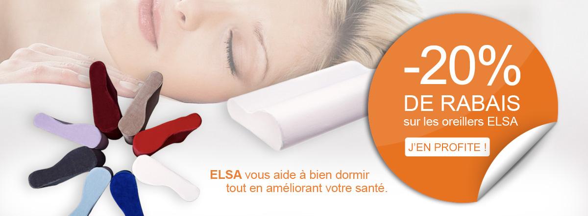 -20% sur les oreillersanatomiques de la gamme ELSA !